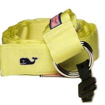Men's Vineyard Vines Grosgran Ribbon D-Ring Belt Yellow Size Xl Photo