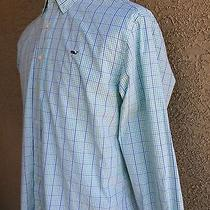 Men's Vineyard Vines Whale Ls Plaid Shirt 100% Cotton Sz (Medium) A49 Photo