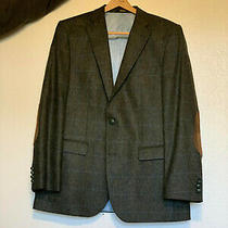 Mens Vintage Barbour Tweed Blazer Plaid Wool Suit Jacket Viscose Lining Size 42 Photo