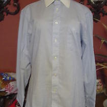 Men's Vintage Christian Dior Size 15-32/33 Blue/white Dress Shirt Euc Photo