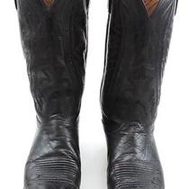 Men's Vintage Lucchese 2000 Leather Cowboy Boots Size 9.5 D Burgundy Brown Photo