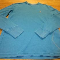 Men's Volcom L/s Thermal Henley Shirt Blue Size M Photo