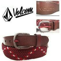 Men's Volcom Plate Lunch Belt. Woven. Sz 34. Nwt  Photo