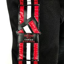 Men's Vtg Adidas Poppers Track Jogger Pants Black Casual Pants Size - M Photo