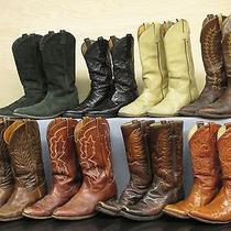 Men's Vtg Cowboy Boot Lot for Restoration Lucchese Tony Lama Frye Hondo Wrangler Photo