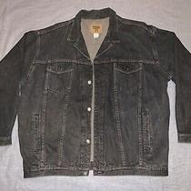 Mens Vtg Gap Usa Made Black Jean Jacket Size Xl Photo
