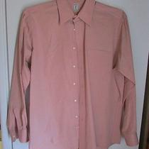 Men's Vtg Ysl Dress Shirt Yves Saint Laurent Pale Pink/mauve Size 16 1/2 -34/35 Photo