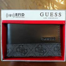 Mens Wallet & Valet Guess Los Angeles Black Color Passcase Rfid Made in India. Photo
