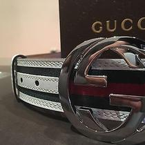 Men's White Gucci Belt Monogram Nwt 95cm Photo