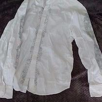 Men's White J Campbell Printed Long Sleeved Shirt Size Xl Photo