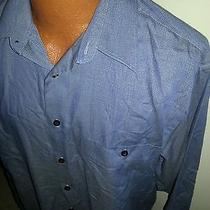 Men's Ysl Dress Shirt Blue 15.5 34/35 Medium M Yves Saint Laurent Photo
