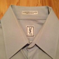 Men's Ysl Yves Saint Laurent 15 32/33 Button Up Down Shirt Vintage Dress Luxury Photo