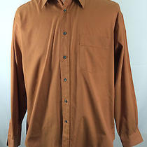 Men's Yves Saint Laurent Size 17-34/35 Canyon Red Long Sleeve Dress Shirt Photo