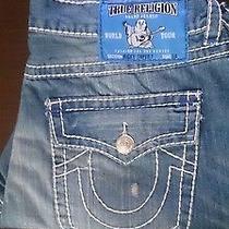 Men True Religion Brand Jeans Ricky Size 42 Waist 38 Seat Light Blue Nwt Photo