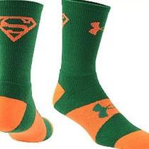 Men Under Armour Heat Gear Superman Marvel Alter Ego Crew Sport Sock 9-12.5 Photo
