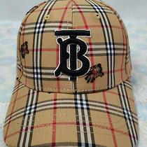 Men Women Burberry Tb Check Baseball Golf Hat Adjustable Cap Brown Nwt Photo