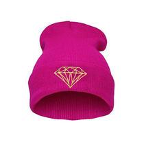 Men Women's New Diamond Hip-Hop Cap Beanies Winter Cotton Knit Wool Hats Photo