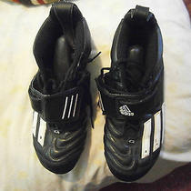 Men/youth Athletic  Adidas Bike/track Shoes Cleats Leather Sz 11 Velcro Closures Photo