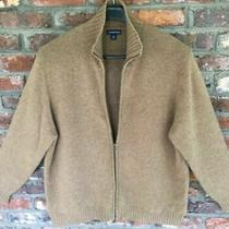 Mens 100% Cashmere Classic Heavyweight Full Zip Sweater Jacket Brown Size Xl/xxl Photo
