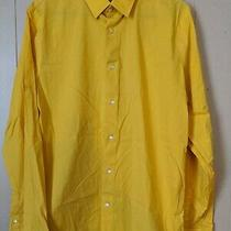 Mens 1mx Express Yellow Button Down Long Sleeve Shirt Large 16-16 1/2 Photo