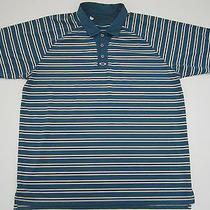 Mens 2xl Oakley Striped Golf Polo Shirt  Photo
