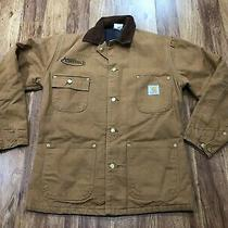 Mens 36 - Vtg Carhartt Duck Blanket Lined Chore Coat Jacket Usa Photo