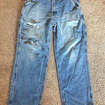 Mens 36x30 Torn Ripped Up Jeans Distressed Grunge Destroyed Carhartt Holes Worn Photo