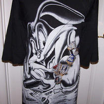 Mens 4xl Griffin Active Wear Looney Tunes Bugs Bunny Gangsta Swag Bling Shirt Photo
