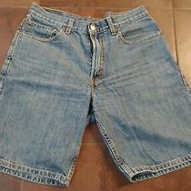 Mens 550 Levis Blue Denim Shorts Relaxed Fit Size 33 Photo