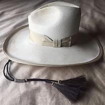 Mens 7 1/8 Vintage Stetson 4x Tom Mix Shantung Panama Straw Cowboy Western Hat Photo