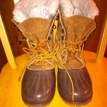 Mens 7 Sorel Caribou Brown Leather Insulated Cold Snow Winter Hiking Boots Photo