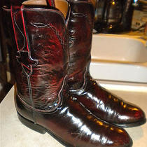 Mens 8 D Lucchese  L6749 Black Cherry Leather Roper Western Boots Photo