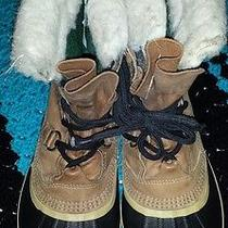 Mens 8 Womens 10 Sorel Caribou Tan Leather Insulated Snow /winter Boots See Pics Photo