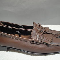 Mens 9.5 M Bally Cannes Soft Brown Glove Leather Moccasin Kiltie Slip-on Loafers Photo