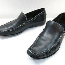 Mens 9 Donald J Pliner Paco Loafer Slip on Black Leather Moccasin Casual Italy Photo