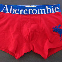 Mens Abercrombie & Fitch Moose Red Boxer Brief Size L Photo