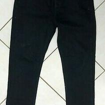 Mens Acne Studios Black Straight Leg Denim Jeans. W31 L34. Photo