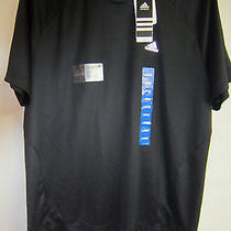 Mens Adidas Black Ess F Crew Neck Tee Shirt Size Large Photo
