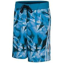 Mens Adidas Blue Diamond Microfiber Volley Shorts (Blue )large Photo