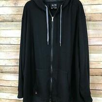 Mens Adidas Full Zip Hoodie Black Size 3xl Photo