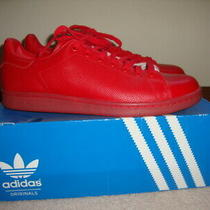 Mens Adidas Originals Stan Smith Adicolor Red Shoes Sneaker S80248 Size 12 Euc Photo