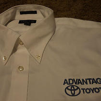 Mens Advantage Toyota Car Long Sleeve Oxford Shirt Lands End 17-35 ( No Hat ) Photo