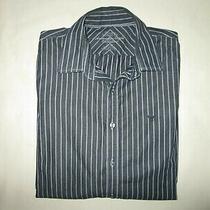 Mens Ae American Eagle Premium Vintage Fit Black Long Sleeve Shirt Size M Medium Photo