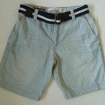 Mens Aeropostale Belted Railroad Stripe Chino Shorts Size 28 Nwt 0858 Photo