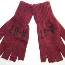 Mens Aeropostale Gloves Mittens Burgundy One Size Photo