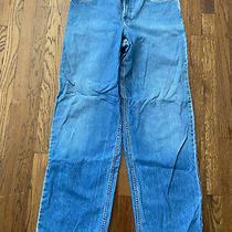 Mens Aeropostale Jeans Blue Denim Loose 100% Cotton Size 34 / 34 Photo