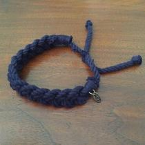Mens Aeropostale Navy Blue Braided Adjustable Bracelet Photo