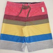 Mens Aeropostale Striped Swim Board Shorts Boardshorts Trunks Size 38 Nwt 9509 Photo