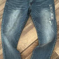 Mens Aeropostale Super Skinny Stretch Blue Denim Jeans Nwt 36 X 30 Distressed Photo