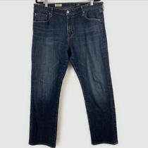Mens Ag Adriano Goldschmied the Graduate Tailored Leg Jeans Size 38 Dark Wash Photo